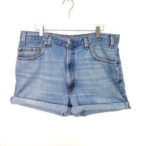 Vtg LEVI'S 505 Jean Short Cutoffs Ultra High Rise